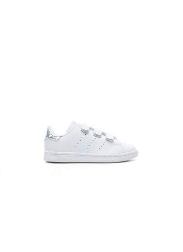 adidas Unisex Çocuk Stan Smith Sneakers EE8484.Beyaz Beyaz